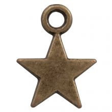 Breloque Étoile (14 x 10 mm) Bronze (25 pièces)
