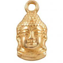 Breloque Buddha (15 x 7 mm) Or (25 pièces)