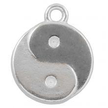 Breloque Ying Yang (17 x 13 mm) Argent Antique (25 pièces)