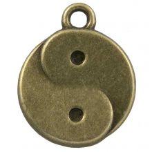 Breloque Ying-Yang (17 x 13 mm) Bronze (25 pièces)