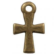 Breloque Croix (14 x 10 mm) Bronze (25 pièces)