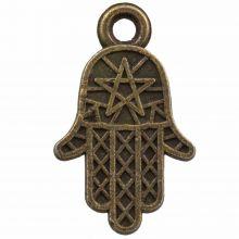 Breloque Main Hamsa (14 x 10 mm) Bronze (25 pièces)