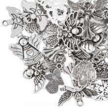 Breloques Ange (tailles variées) Argent Antique (30 pièces)