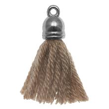 Pompon imitation (20 mm) Cedar / Argent (5 pièces)