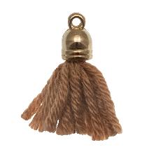 Pompon imitation (20 mm) Tawny  / Or (5 pièces)