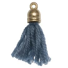 Pompon imitation (20 mm) Aegean / Or (5 pièces)
