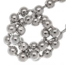 bolletjesketting zilver