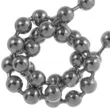 Chaine Bille Acier Inoxydable (3.2 mm) Argent Antique (2.5 Mètre)
