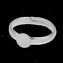 Bague Ajustable (Plateau 6 mm) Argent Antique (10 pièces)