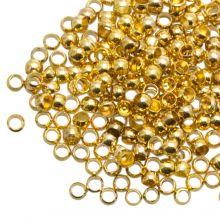 Perles à Écraser Paquet Géant (Diamètre intérieur 1.2 mm) Or (730 pièces)
