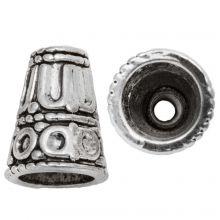 Calotte (15 x 12 mm) Argent Antique (5 pièces)