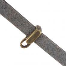 Breloque Connecteur Rectangle 1 Œillet (Diamètre de l'intérieur 5 x 2 mm) Bronze (10 pièces)