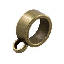 Breloque Connecteur 1 Œillet (Diamètre de l'intérieur 7 mm) Bronze (10 pièces)