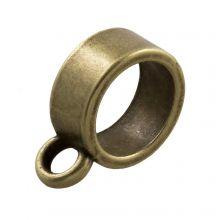 Breloque Connecteur 1 Œillet  (Diamètre de l'intérieur 8 mm) Bronze (10 pièces)
