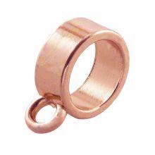 Breloque Connecteur 1 Œillet  (Diamètre de l'intérieur 8 mm) Or Rose (10 pièces)