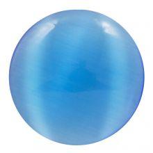 Cabochon Oeil de Chat (14 mm) Dark Blue (2 pièces)