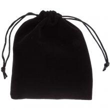 Sachet à bijoux en velours (15 x 12 cm) Black (5 pcs)