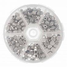Mélange de Perles en Métal (5 - 6 mm) Argent Antique (180 pièces)