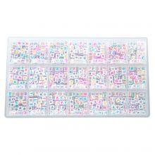 Perles Lettres Consonnes - 6 x 6 mm (44 perles par lettre)