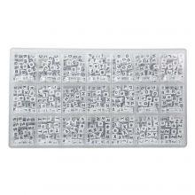 Perles Lettres Consonnes - 6 x 6 mm (43 perles par lettre)