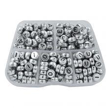 Perles Lettres Voyelles - 7 x 3.5 mm (48 perles par lettre)