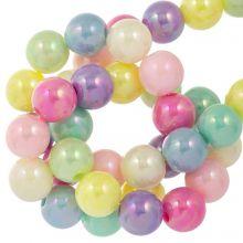Perles Acryliques (8 mm) Mix AB Color (100 pièces)