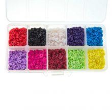 Boîte de Tri - Perles en Polymère (4 x 1 mm) Mix Color (4000 pièces)