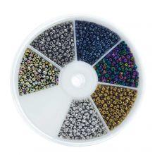 Mélange de Rocailles (3 mm) Galvanized Mix Color
