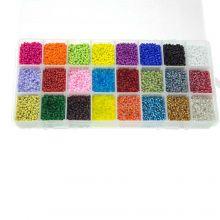 Mélange XL de Rocailles  (2 mm / 24 x 23 gram) Mix Color