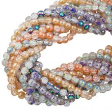 Mélange de Perles en Verre Crackle (6 mm) Galvanized Mix Color (650 pièces)