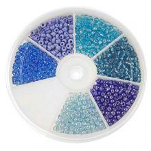Mélange de Rocailles (3 mm) Mix Color Blue
