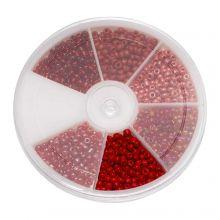 Mélange de Rocailles (3 mm) Mix Color Red