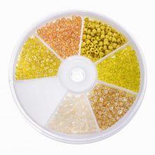 Mélange de Rocailles (3 mm) Mix Color Yellow
