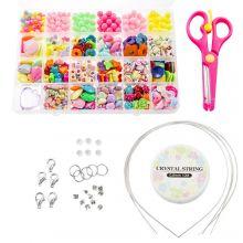 Mélange pour Enfants - Perles Acryliques et outils 'Mix Color'