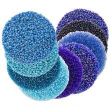 Mélange de Rocailles (2 mm / 9 x 50 grammes) 'Mix Color Blue'