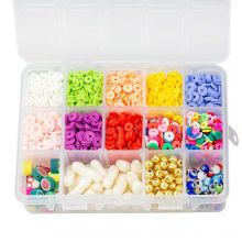 Boîte de Tri - Perles Acryliques et Polymères (6 - 23 mm) Mix Color (2300 pièces)