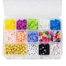 Boîte de Tri - Perles Acryliques et Polymères (6 - 8 mm) Mix Color (2550 pièces)