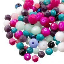 Mélange de Perles Facettes (8 - 2 mm) Mix Color (100 grammes)
