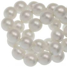 Perles en Verre Cirées DQ (6 mm) White Matt (80 pièces)