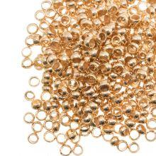 Perles à Écraser (Diamètre intérieur 0.5 mm) Or (100 pièces)