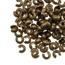 Caches Perles à Écraser (4 mm) Bronze (25 pièces)