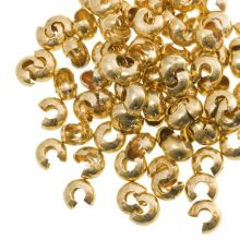 Caches Perles à Écraser (5 mm) Or (25 pièces)