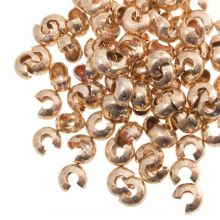 Caches Perles à Écraser (6 mm) Or (25 pièces)