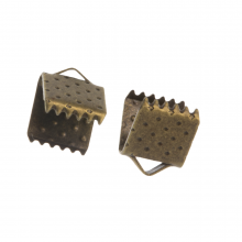 Embout Ruban (6 mm) Bronze (20 pièces)