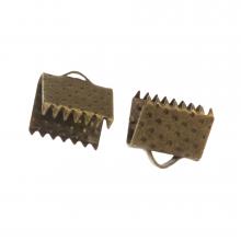 Embout Ruban (8 mm) Bronze (20 pièces)