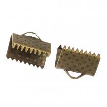 Embout Ruban (10 mm) Bronze (20 pièces)
