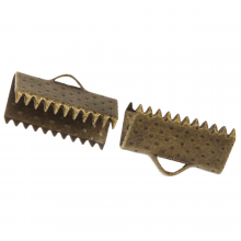 Embout Ruban (13 mm) Bronze (100 pièces)