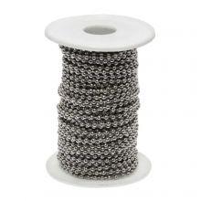 Chaine Bille Acier Inoxydable (3 mm) Argent Antique (20 Mètre)
