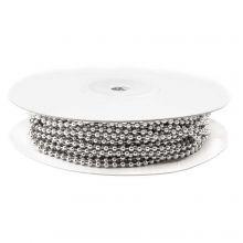 Chaine Bille Acier Inoxydable (2.4 mm) Argent Antique (20 mètre)