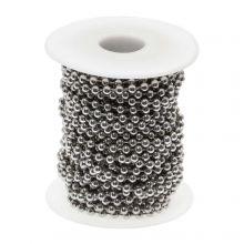Chaine Bille Acier Inoxydable (4 mm) Argent Antique (10 mètre)